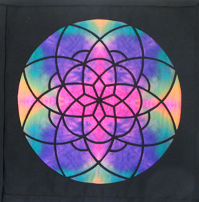 "Rose Window Wallhanging25"" x 25"""