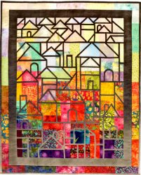 Simple Stained Glass QuiltsBook ProjectsHillside Houses Projects
